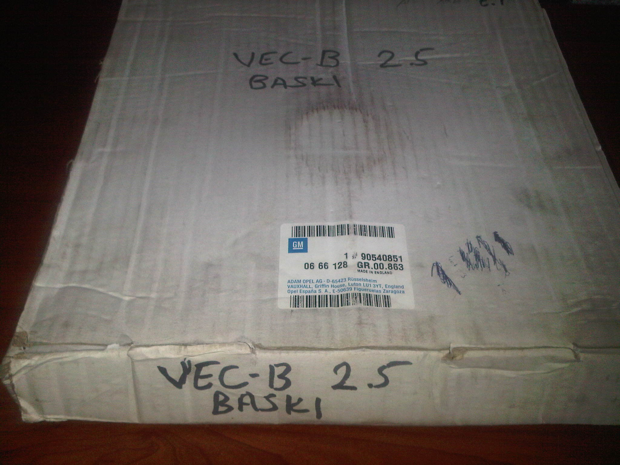 OPEL VECTRA B X2.5XE DEBR�YAJ BASKISI 666128